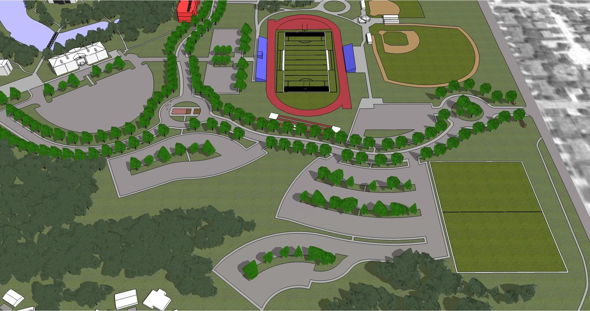 Athletics Zone Aerial View